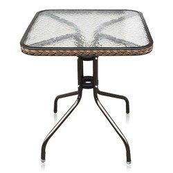 Столик стеклянный кофейный AF-073 квадратный