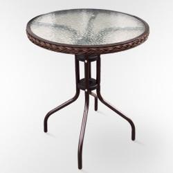 Столик стеклянный кофейный AF-087 круглый