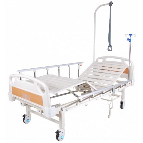 Кровать электрическая четырехсекционная ММ-77Н полка+надкроватный столик