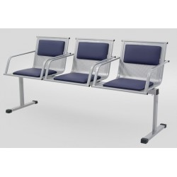 Секция стульев перфорированная YH 88/5 с мягкими накладками