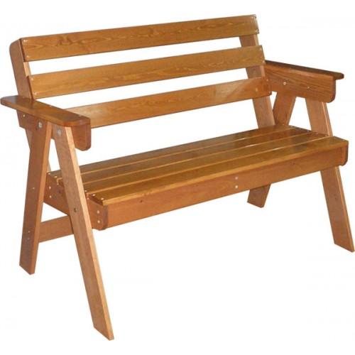 Диван деревянный для дачи Н117.4
