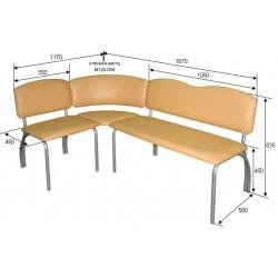 Офисный угловой диван М124-03