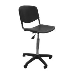 Кресло лабораторное ТЕКО низкое (ИЗО пластик)