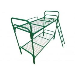 Кровать двухъярусная с лестницей (сетка 50*100 мм)