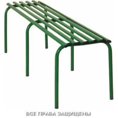 Скамейка металлическая, стопируемая M111-06 двухместная