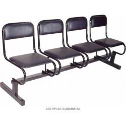 Секция стульев для залов ожидания 4-х местная М112