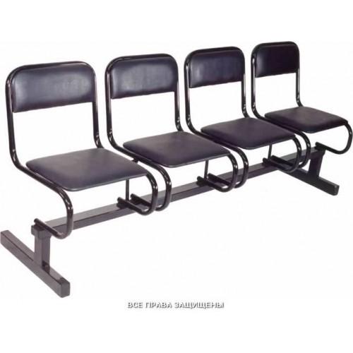 Секция стульев для залов ожидания 4-х местная М112 без подлокотников