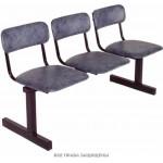 Секция стульев многоместная для актового зала мягкая М 113-03