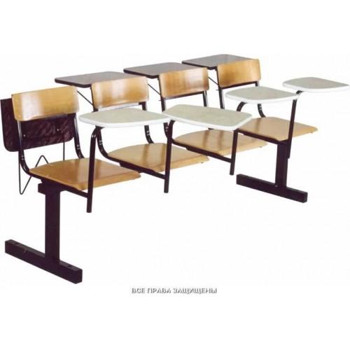 Секция стульев жесткая М113-06 сиденье фанера