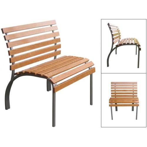 Садовая скамейка со спинкой  одноместная разборная М117-071
