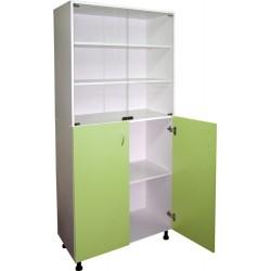 Шкаф медицинский  М 202-034, 2 полки стекло +  стеклянные дверцы