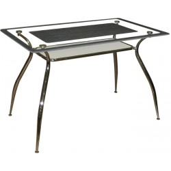 Стол стеклянный  с УФ печатью Капучино M141-062