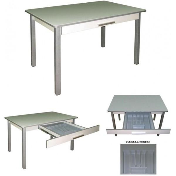 Кухонный стол с ящиком для столовых приборов