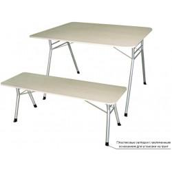 Складные столы.Стол складной с меламиновой столешницей М 144-02