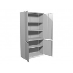 Шкаф балконный металлический двустворчатый ПР-ШБ-2010