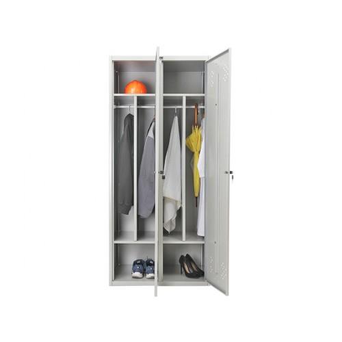 Шкаф металлический гардеробный ПР-LS-21-80D двухдверный