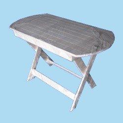 Стол деревянный овальный