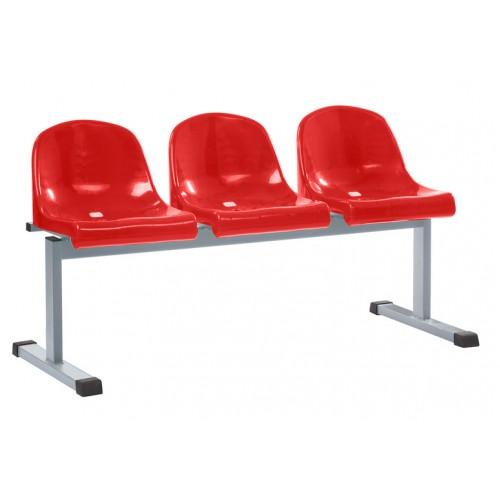 Секция стульев для стадиона YH 94-03 с пластиковым сиденьем