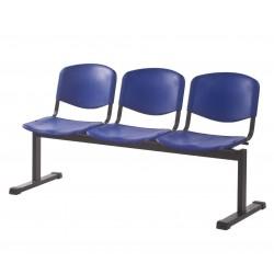 Секция стульев с пластиковыми сидениями YH-24-03 антивандальная