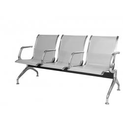 Секция стульев перфорированная с подлокотниками YH-20-03