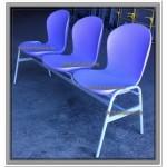 Секция стульев с цельными полипропиленовыми сидениями Н57-03 (бюджетный вариант)