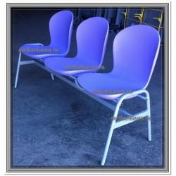 Секция стульев с цельными полипропиленовыми сидениями Н57-03