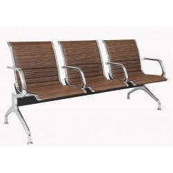 Секция стульев хромированная YH1-P для зоны ожидания