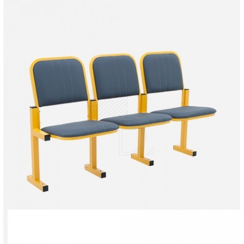 Секция стульев для конференц зала YH 12-03 c откидными сиденьями и креплением к полу