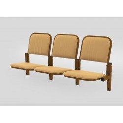 Многоместная секция для актовых залов YH 12/1-03 c откидными сиденьями и креплением к стене