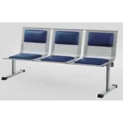 Секция стульев для медучреждения YH 88/4 перфорированная с накладками