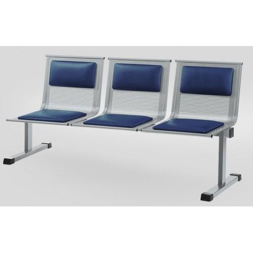 Секция стульев для медицинского учреждения YH 88/4 перфорированная с мягкими накладками