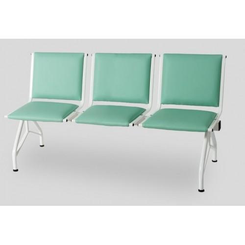 Секция стульев многоместная мягкая YH-86  для поликлиники
