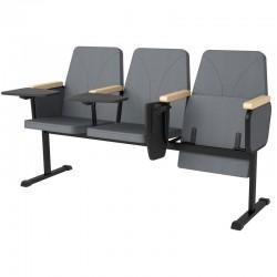 Секция стульев для конференцзала YH-15/2Р  с откидными столиками