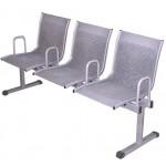 Кресло многоместное с перфорацией GR-S c подлокотниками и мягкими накладками