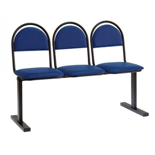 Секция стульев Стандарт на раме трехместная