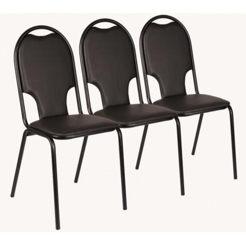 Секционные стулья Стандарт плюс трехместные