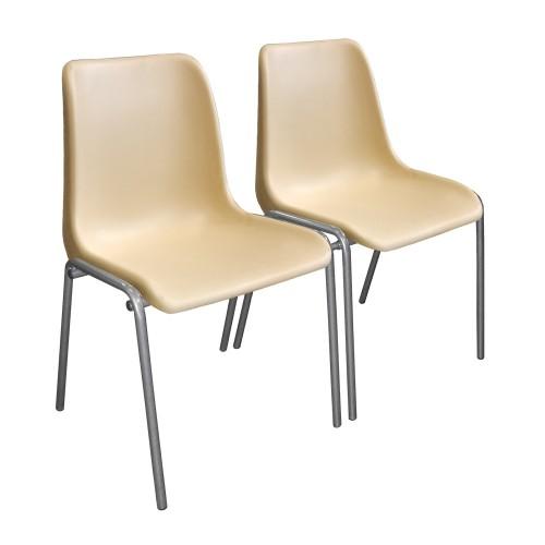 Секция пластиковых стульев М22  двухместная на металлокаркасе