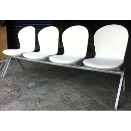 Секция стульев с монолитными пластиковыми сиденьями Н57-02  многоместная