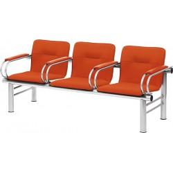 Секция стульев мягкая YH-15-03/2 с подлокотниками