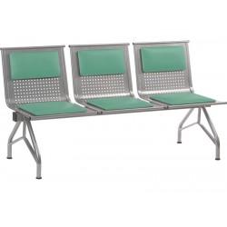 Секция стульев для вокзалов YH-86-4 с мягкими накладками