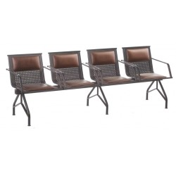 Блок стульев для учебных заведений YH-86-5 с подлокотниками