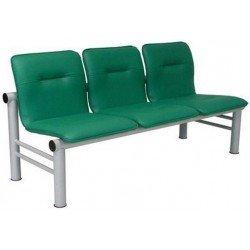 Секции стульев мягкие многоместные