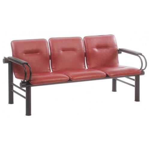 Многоместная секция стульев для медицинских центров с подлокотниками
