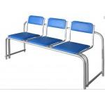 Секция стульев полумягкая СС-430 стопируемая (аналог Форум)