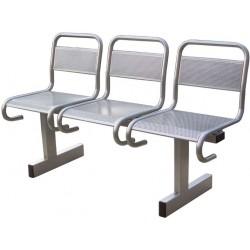 Секция стульев разборная СС-482 с перфорированными сиденьями