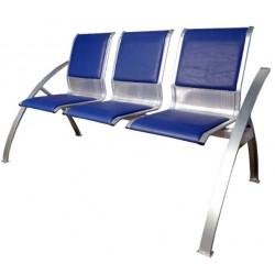 Секция стульев для аэропортов СС-488 с мягкими накладками