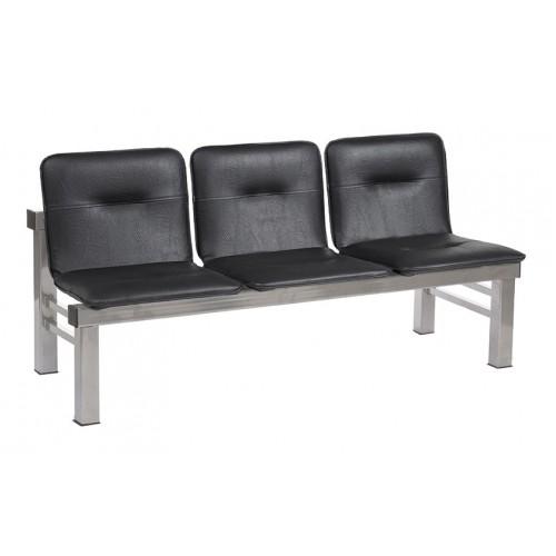 Многоместная секция стульев для зон отдыха YH-16-03 каркас квадратная труба