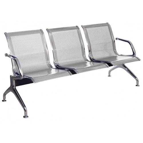 Секция стульев  перфорированная J19-3 разборная для вокзалов и аэропортов