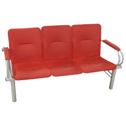Многоместная секция стульев F-Сinema с мягкими подлокотниками