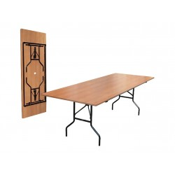 Стол с металлическим складным основанием 1500*700